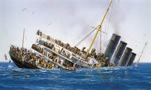 rms lusitania going down lusitania pinterest