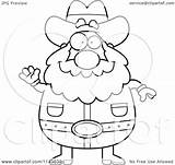 Miner Prospector Cartoon Clipart Waving Chubby Coloring Outlined Vector Thoman Cory Regarding Notes sketch template
