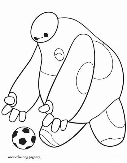 Coloring Hero Baymax Pages Soccer Ball Disney