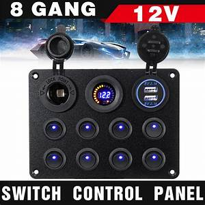 8 Gang Switch Panel 12v