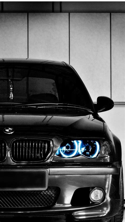 Black Bmw Front Blue Led Iphone Plus Wallpaper