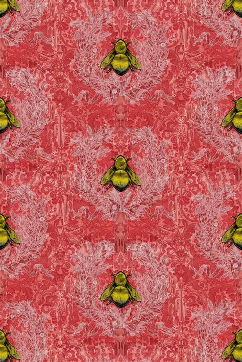 timorous beasties wallcoverings imperial apiary wallpaper