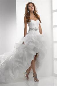 Short front long back wedding dress styles of wedding for Short in the front long in the back wedding dresses