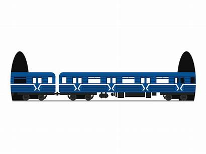 Train Metro Animation Loading Moscow Ticket Screen