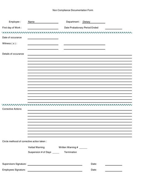 15626 employee warning form written warning form employee written warning form