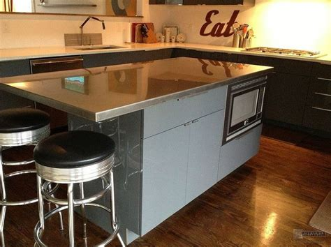 stainless steel kitchen island with butcher block top kitchen islands with stainless steel tops