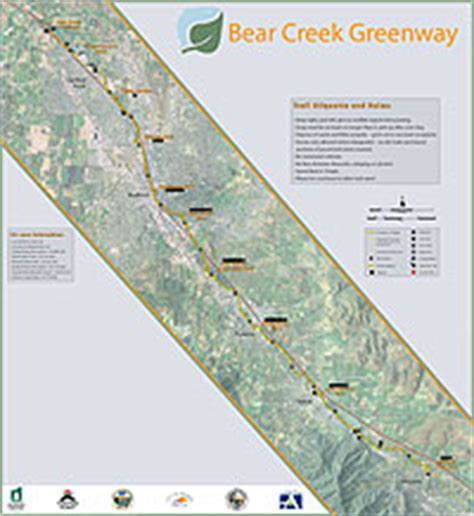 bear creek greenway map  brochure