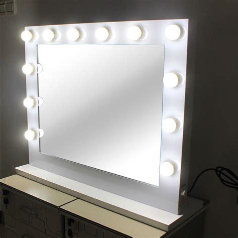 lighted makeup vanity mirror aluminum dimmer white free 14 led bulbs ebay