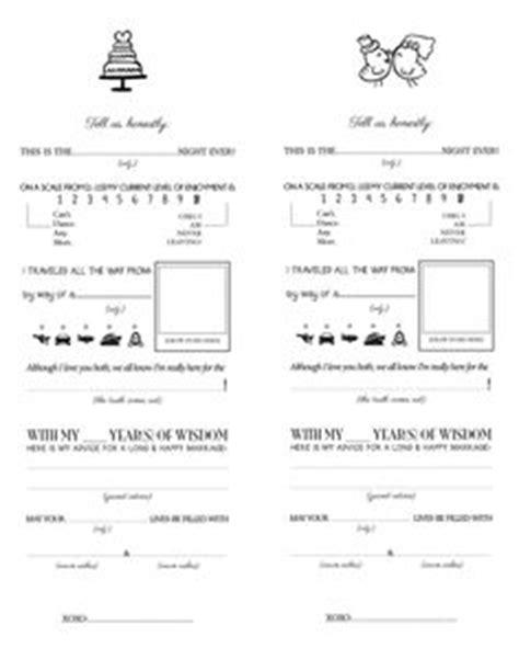leave  note   bride  groom printable template