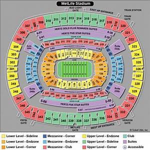 Metlife Stadium Seating Chart Metlife Stadium East