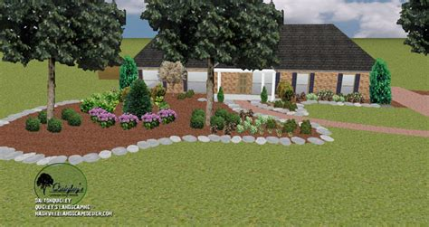 franklin tn front yard landscape design nashville