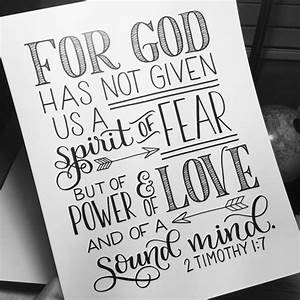 hand lettered print bible verse scripture 2 tim 17 With hand lettering bible