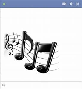 Music notes emoticon for facebook chat