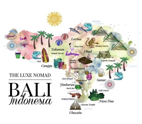 luxe nomad illustrated bali map great quick overview