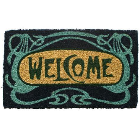 entryways doormat entryways deco welcome 18 in x 30 in woven