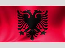 Albanien Flagge Nahtlose Schleife Animation Hintergrund