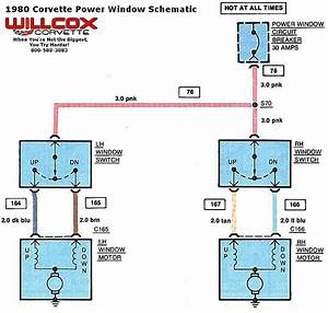 1976 Corvette Power Window Wiring Diagram