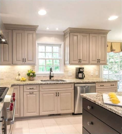 taupe painted kitchen cabinets taupe kitchen cabinets centsational style 6015