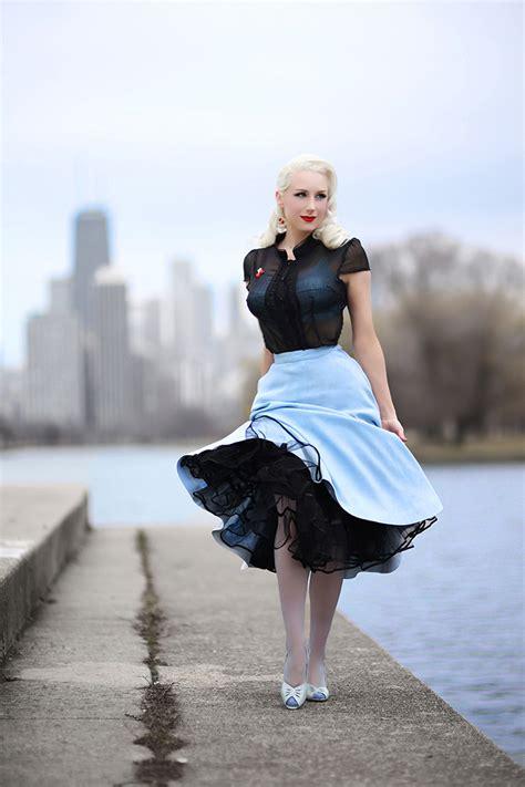 rachel ann jensen sky blue feminine glamour