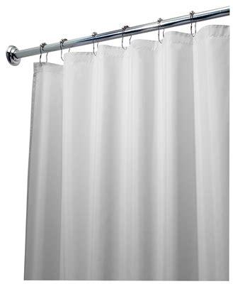 interdesign 72x84 in white fabric shower curtain 14962
