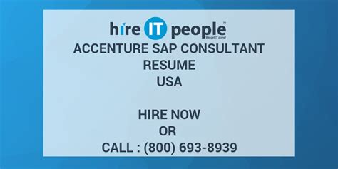 asap full form in sap accenture sap consultant resume hire it people we get