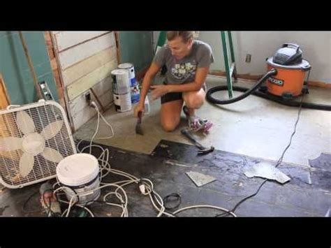removed  asbestos floor tiles youtube tile