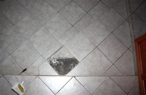 help replacing broken floor tile run into problem