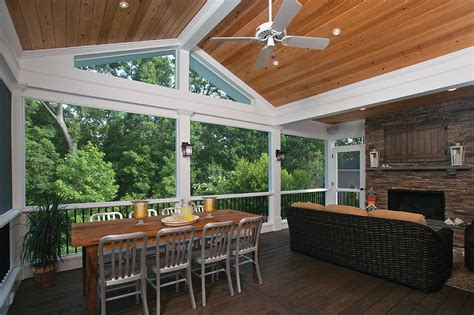 screened porches with deck rail