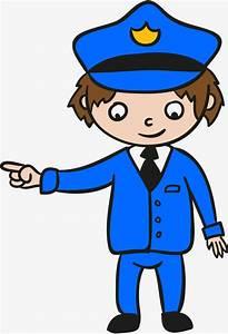 Policeman Pointing The Way Police People Cartoon Hand