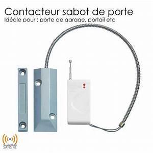 detecteur ouverture sans fil sabot gx completer mon With contacteur de porte sans fil