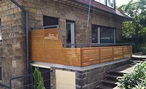noch ein gelander mit holz dachterrasse balkon With whirlpool garten mit balkon sichtschutz holz selber bauen