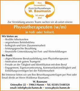 Job Hamburg Teilzeit : physiotherapeut m w in vollzeit oder teilzeit in hamm ~ A.2002-acura-tl-radio.info Haus und Dekorationen