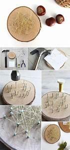 Herbstdeko Aus Holz : do it yourself herbstdeko aus holzscheiben und draht basteln basteln handwerk und basteln ~ Watch28wear.com Haus und Dekorationen