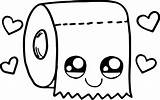 Coloring Paper Toilet Kawaii Wecoloringpage sketch template