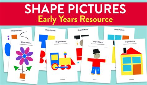 name that shape pictures for early years maths
