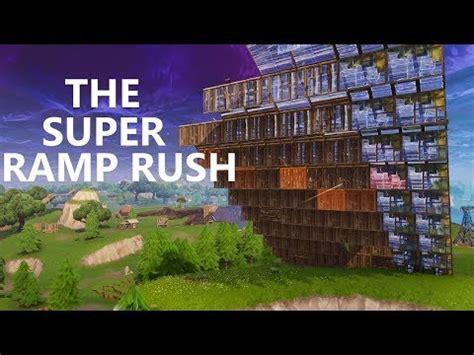 super ramp rush fortnite battle royale youtube