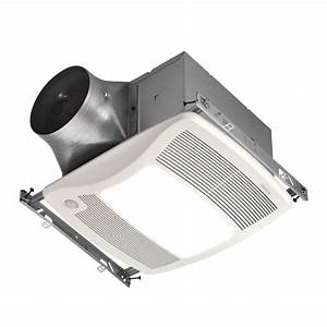 Shop broan 03 sone 110 cfm white bathroom fan energy star for Bathroom ventilation fans