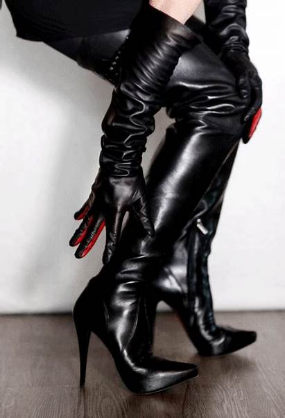Boots Thigh Heels Leather Fetish Tights Heel