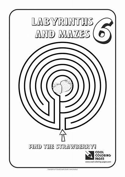 Coloring Pages Cool Mazes Maze Labyrinths Labyrinth