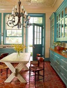rust coral orange fall inspired rooms day 4 loving With kitchen cabinets lowes with blue coral wall art