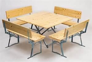Bierzeltgarnitur Breiter Tisch : quadratische bierbankgarnituren mit und ohne r ckenlehne ~ A.2002-acura-tl-radio.info Haus und Dekorationen