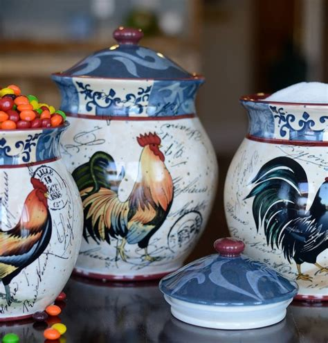 rooster kitchen canisters 133 best images about rooster canisters on set
