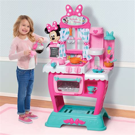 Minnie Mouse Kitchen Play Set Kids Girls Pretend Toys Pink