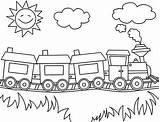Train Coloring Steam Sunny Netart sketch template