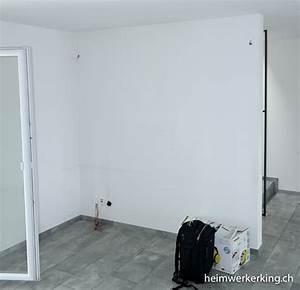 Die Neue Wand : tv wand mit steinverblender ohne sichtbare kabel bauen ~ Markanthonyermac.com Haus und Dekorationen