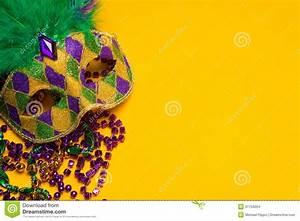 Mardi Gras Or Venetian Mask On Yellow Stock Images - Image ...