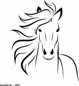 Clipart - White Horse