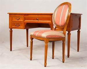 Schreibtisch Mit Stuhl : schreibtisch mit stuhl im stil des louis seize kirsche ~ A.2002-acura-tl-radio.info Haus und Dekorationen