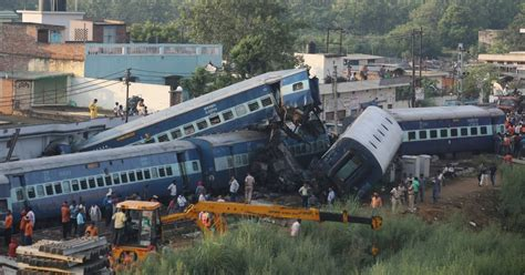 Train Crash In Uttar Pradesh, India, Kills At Least 23 And