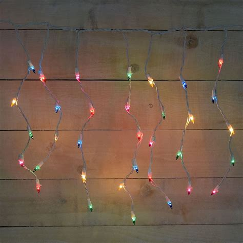 colored icicle lights 50 count icicle multi color string lights